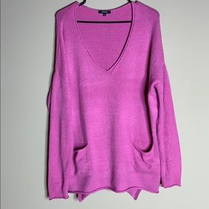 Premise Pink Long Sleeve Sweater Pockets Size L